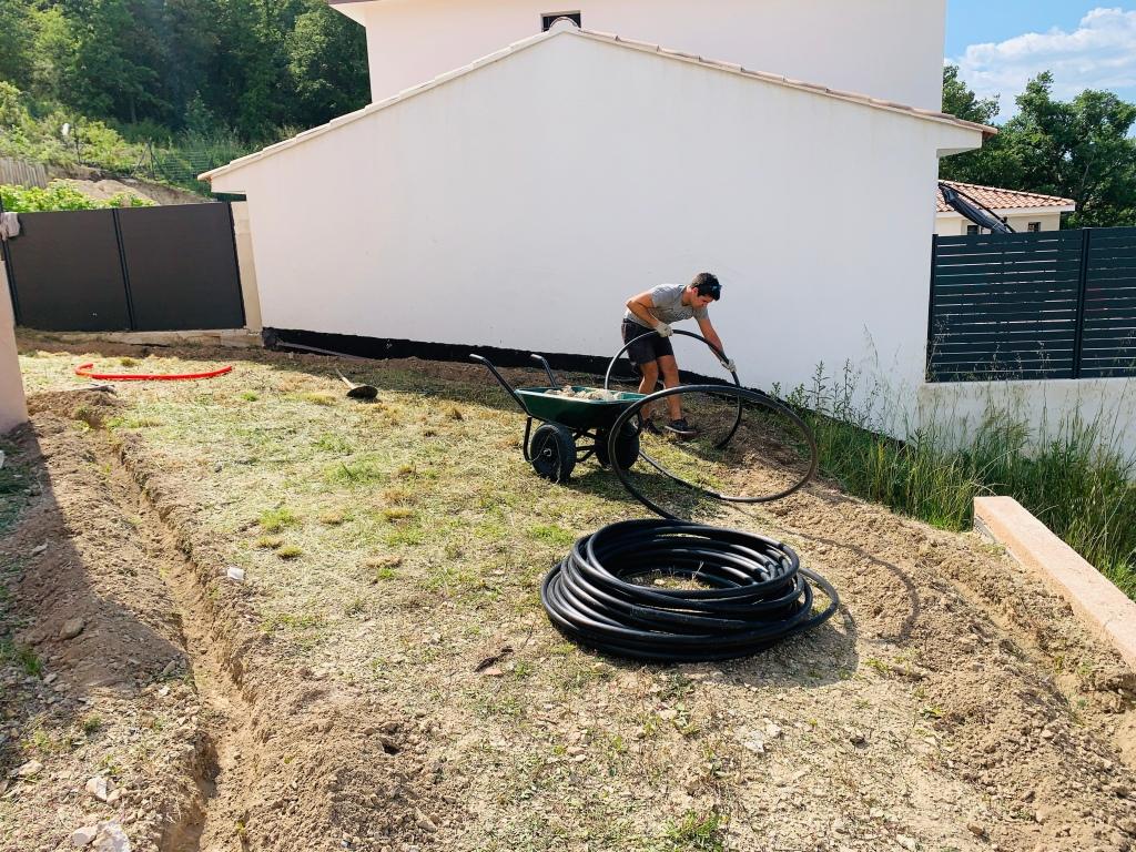 Mise en place des tuyaux
