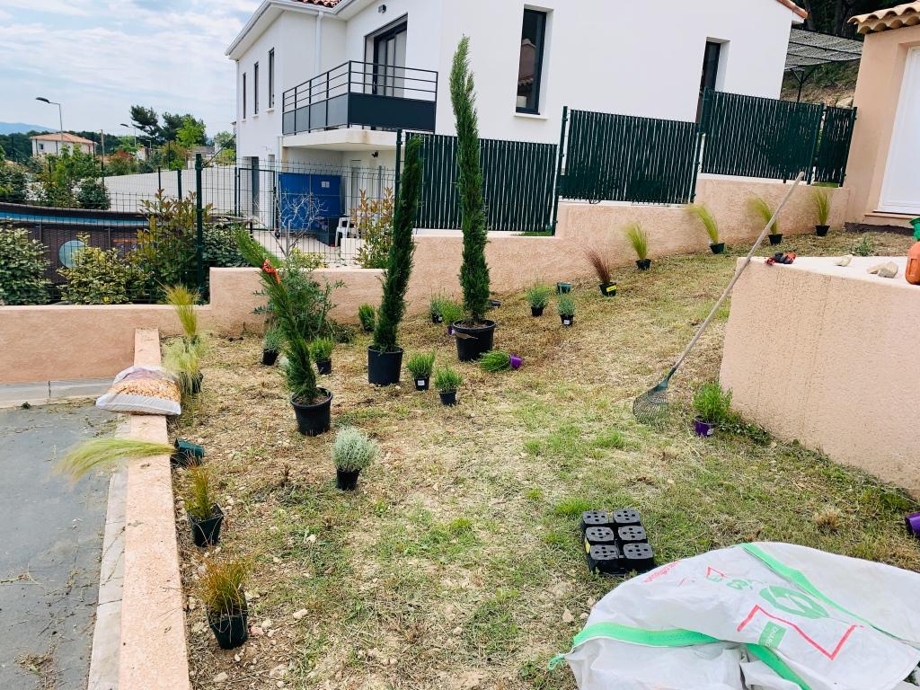Disposition des plantes selon le souhait du client